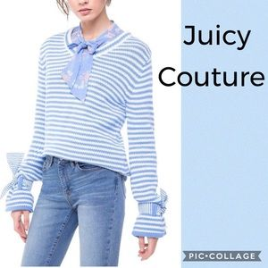 Juicy Couture striped bow cuff sweater
